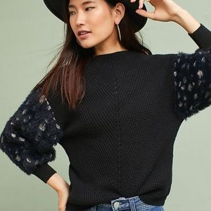 Anthropologie Knitted Knotted Soft Sleeve Sweater